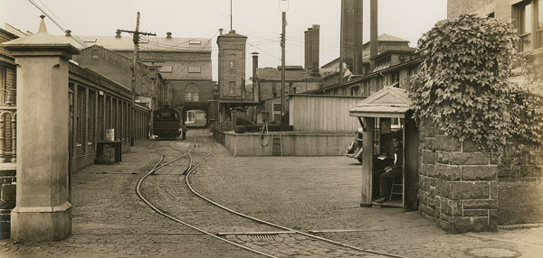 Photo of Poole & Hunt Foundry complex, c. 1934.